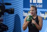 """R.Meilutytė: """"Dėkoju visiems lietuviams už palaikymą pasaulio čempionate"""""""