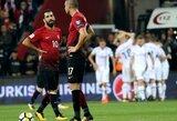 Pasaulio čempionato atranka: islandai sutriuškino turkus, Ispanija lengvai nugalėjo Albaniją