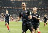 Kroatija po 120 minučių kovos pirmą kartą pateko į pasaulio čempionato finalą