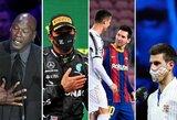 2020 metų įsimintiniausios sporto įžymybių citatos: ką pasakė M.Jordanas, C.Ronaldo, L.Hamiltonas, N.Djokovičius, M.Tysonas ir kiti?