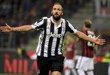 """100-asis G.Higuaino """"Serie A"""" įvartis paženklintas """"Juventus"""" pergale prieš """"Milan"""""""
