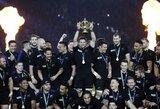 Visų laikų rekordą pagerinę Naujosios Zelandijos regbininkai trečią kartą tapo pasaulio čempionais