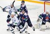 """KHL Rytų konferencijų pusfinaliuose – pirmosios """"Traktor"""" ir """"Metallurg"""" pergalės"""