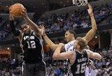 """""""Spurs"""" net ir be lyderių nugalėjo """"Grizzlies"""""""