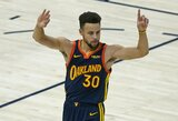 """S.Curry pagal pataikytus tritaškius pakilo į antrąją vietą, """"Warriors"""" – sutriuškinta"""