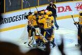 """Varžovų pražangomis pasinaudojusi """"Predators"""" sezoną NHL pradėjo pergale prieš """"Blackhawks"""""""