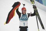 Pjongčango olimpiados medalių įskaitos lyderių trejetas nepasikeitė