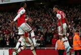 """2 įvarčius per 3 minutes pelnęs """"Arsenal"""" išplešė dramatišką pergalę prieš """"Premier"""" lygos autsaiderius"""