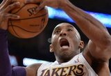 """K.Bryanto ir P.Gasolio duetas atvedė """"Lakers"""" į pergalę Memfyje"""