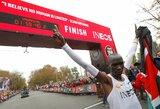 Neįtikėtina: E.Kipchoge tapo pirmu žmogumi, nubėgusiu maratoną greičiau nei per 2 valandas