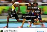 Dešimt juokingiausių reakcijų apie U.Bolto pusfinalio bėgimą Olimpiadoje