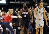"""25 taškų persvarą išbarsčiusi """"Spurs"""" buvo arti penktojo pratęsimo iš eilės"""