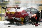 """Pirmasis gaisras Palangoje – užsiliepsnojo """"BMW M3"""""""