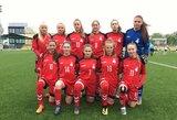 Lietuvos WU-17 ir WU-19 merginų futbolo rinktinės rengiasi Baltijos taurei
