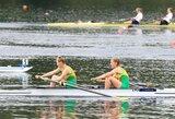 Irkluotojos V.Urbonaitė ir K.Kralikaitė iškovojo Europos jaunių čempionato bronzą