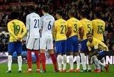 Anglija ir Brazilija išsiskyrė be įvarčių