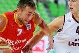 Turkai neįstengė įveikti Belgijos krepšininkų