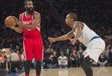 """Charakterį parodžiusi """"Rockets"""" po pratęsimo įveikė K.Porzingio ir A.Afflalo vedamą """"Knicks"""""""