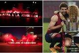 Prieš atsakomąsias rungtynes – šlykštus PSG fanų plakatas Shakirai