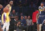 """K.Bryanto akivaizdoje – L.Jameso trigubas dublis ir """"Lakers"""" pergalė"""