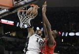 """""""Spurs"""" prieš susitikimą su NBA čempionais namuose laimėjo 34-ą kartą iš eilės"""