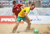 Europos B diviziono paplūdimio futbolo čempionate lietuviai sutriuškino Moldovą