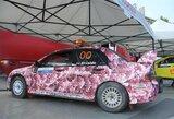 """""""300 Lakes Rally"""" automobilių parke - nuo pūkuotų vairų iki """"pimpačkiukų"""""""