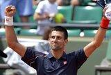 """N.Djokovičius ir R.Federeris pateko į trečiąjį """"French Open"""" teniso turnyro ratą"""