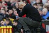 Mančesterio derbį pralaimėjęs P.Guardiola užfiksavo antirekordą