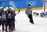 JAV ledo ritulininkės trečią kartą iš eilės pateko į olimpiados finalą