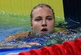 R.Meilutytė liko per plauką nuo medalio, L.King pagerino pasaulio rekordą