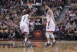 """""""Raptors"""" nesustabdė antrojo šaukimo, bet pratęsė pergalių seriją namų arenoje"""