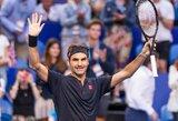 Apie karjeros pabaigą užsiminęs R.Federeris prisidėjo prie pergalingo Šveicarijos rinktinės starto