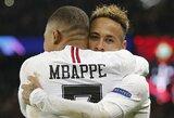 """Neymaras: """"K.Mbappe taps vienu geriausių žaidėjų futbolo istorijoje"""""""