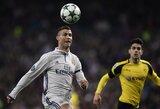 """C.Ronaldo pelnė dublį, """"Real"""" Čempionų lygoje ir toliau žygiuoja pergalingai"""