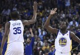 Konfliktu pažymėtame mače be S.Curry žaidę NBA čempionai rado jam pamainą