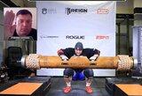 Ž.Savicko pasaulio rekordas liko galioti: L.Stoltmanas pasiekė britų rekordą, R.Kearney patyrė traumą