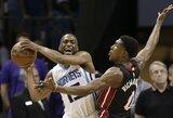 """K.Walkerio vedama """"Hornets"""" palaužė """"Heat"""" ir atstatė serijos pusiausvyrą"""