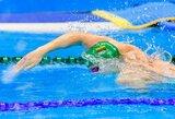 Dramatiškas pasaulio čempionato finalas: rekordiškai greitai plaukęs S.Bilis po brito diskvalifikacijos buvo labai arti medalio