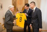 LFF vadovai džiaugėsi susitikimu su V.Adamkumi