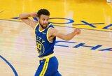 """S.Curry vedama """"Warriors"""" laimėjo panaikinusi 22 taškų deficitą"""