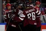 Latvijos ledo ritulio rinktinė pergalingai pradėjo pasaulio čempionatą