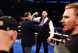Po D.Wilderio pergalės į ringą įsiveržęs T.Fury surengė dar vieną šou