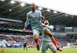 """Į sunkų žaidimą Kardife įklimpę """"Chelsea"""" paskutinėmis minutėmis iškovojo pergalę"""