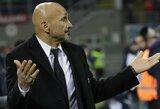 """L.Spalletti: """"Man sakė, kad """"Inter"""" naujiems pirkiniams galės išleisti 150 mln., bet to nebus"""""""