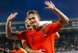Pratęsimo metu grubiai klydusius anglus nubaudę Nyderlandai iškovojo bilietą į Tautų lygos finalą