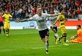 """""""Borussia"""" barstė taškus ir suteikė šansą """"Bayern"""" juos pasivyti, """"Bayer"""" sutriuškino """"B.Monchengaldbach"""""""