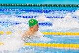 Asmeninį rekordą pagerinęs A.Šidlauskas pateko į pasaulio jaunimo plaukimo čempionato finalą