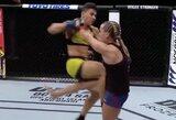 Buvusi R.Namajunas varžovė J.Andrade naujoje svorio kategorijoje debiutavo su trenksmu: pirmame raunde sustabdė pagrindinę pretendentę į titulą