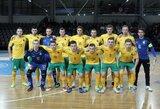 Lietuvos futsal rinktinė pirmojoje tarpusavio akistatoje nusileido Kirgizijai